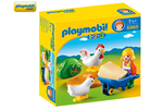 6965 - Playmobil - 1.2.3 - Famer's Wife with Hens - 6965