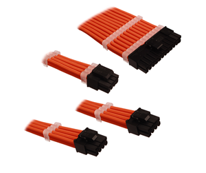 DUTZO Sleeved Power Extension Cable Kit - Orange