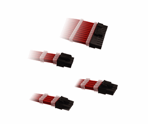 DUTZO Sleeved Power Extension Cable Kit - Red