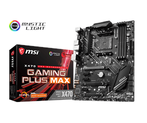 X470 GAMING PLUS MAX - MSI X470 GAMING PLUS MAX Emolevy - AMD X470 - AMD AM4 socket - DDR4 RAM - ATX