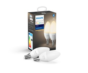 929002039902 - Philips Hue White E14 Bulb - BT - 2-pack